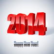 New 2014 year glossy figures vector illustration.