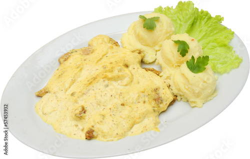Chicken fillets with curry