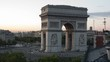 Timelapse of the arc de triomphe, paris