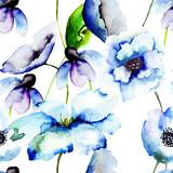Beautiful Blue flowers - 57455589