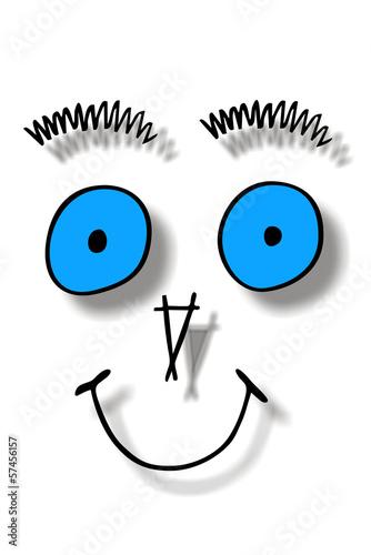 Smiley mit blauen Augen...