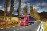 Truck raided landscape poster