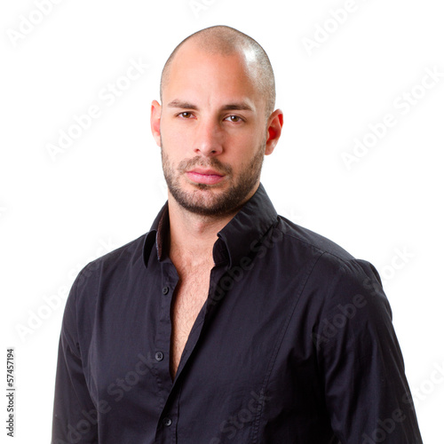 stylish young men wearing black shirt