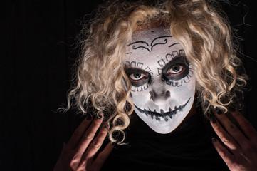 demonic sugar skull woman