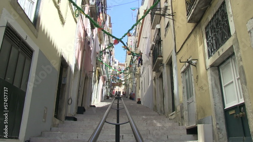 Alley in Lisbon, Portugal