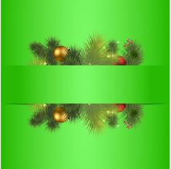 векторный новогодний баннер
