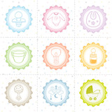 Beautiful baby icon collection
