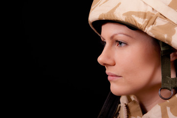 Portrait Of Beautiful Army girl