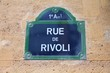 Street in Paris - Rue de Rivoli