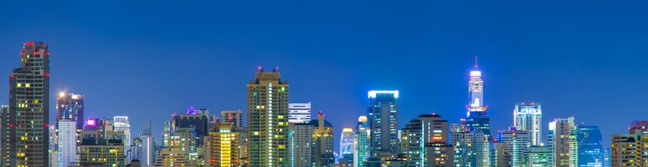 panorama of bangkok city.