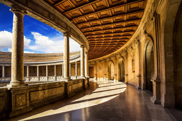 Palace of  Carlos V in The  Alhambra, Granada, Spain.