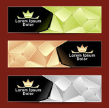 Set Royal Triangle banners