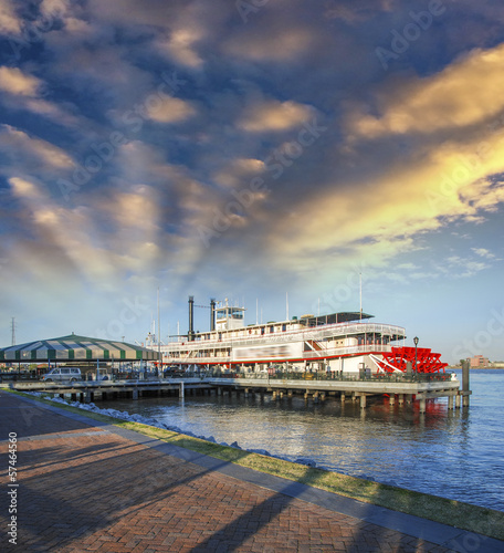 New Orleans. Famous Bateaux on Mississippi River