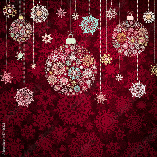 Red christmas background. EPS 10