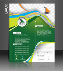 Tennis Competition Back Flyer Template