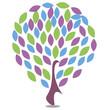 иллюстрация дерево с листьями