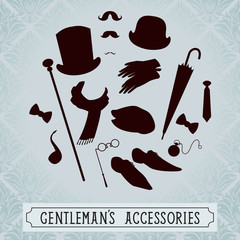 Vintage style set of gentleman accessories