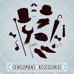 Vintage style set of gentleman accessories
