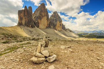 Dolomites mountain panorama,Tre Cime Di Lavaredo,Sudtirol,Italy