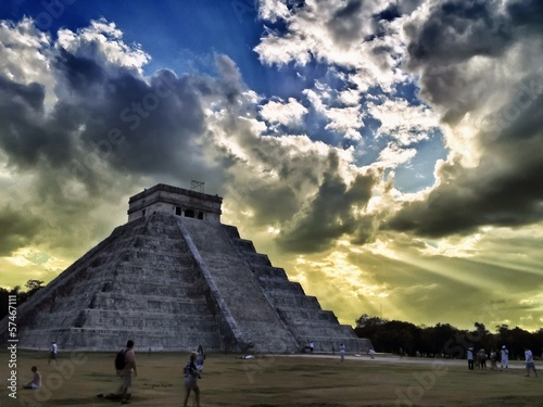 The Castle Pyramid Chichen Itza Yucatan Peninsula Mexico