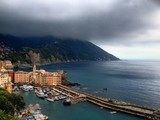 Italy Camogli in a cloudy morning