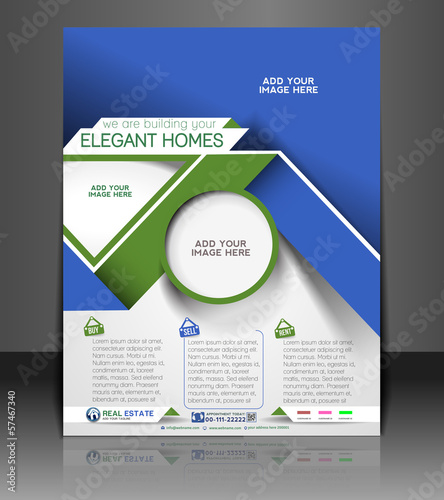 Real Estate Flyer, Magazine Cover & Poster Template