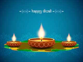 artistic background design for diwali festival