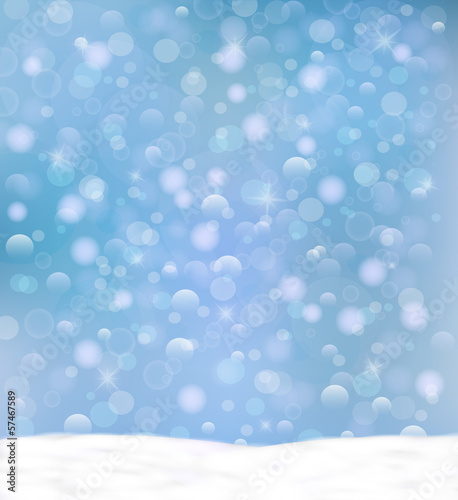 Snowy background. Winter design background