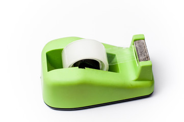 green cellotape holder