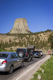 Cars entering Devils Tower