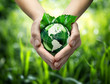 Green planet in your heart hands - usa - environment concept - 57469524