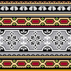 seamless floral Spanish ornament
