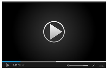 Simple online video player for web in dark colors