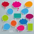 Colored Communication Bubbles