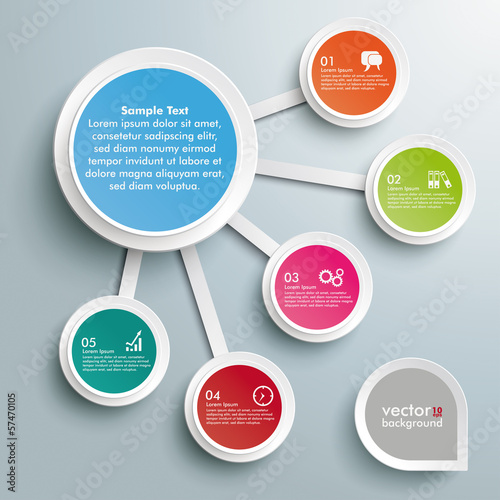 Infographic Big And 5 Small Circles