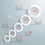 Circles Growth 5 Options Infographic