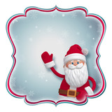 Christmas label with Santa Claus, place your text