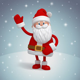 Christmas Santa Claus, funny 3d cartoon character