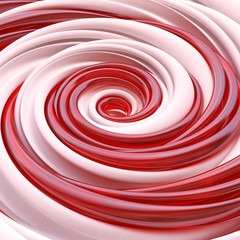 3d abstract Christmas candy spiral background