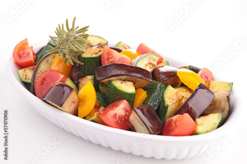 ratatouille made of eggplant,zucchini and tomato