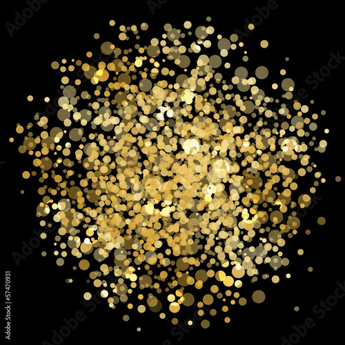 Vector gold blur