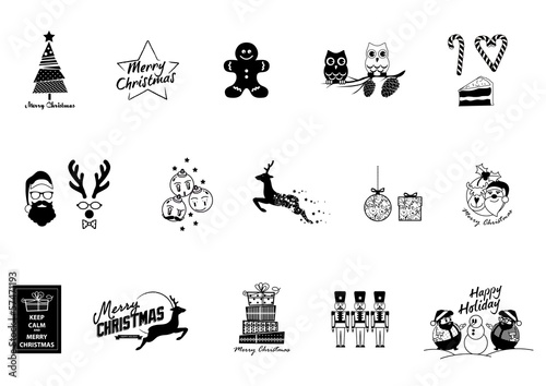 Christmas icons, elemnt and illustrations