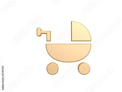 golden baby bassinet