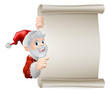 Cartoon Santa Christmas Scroll
