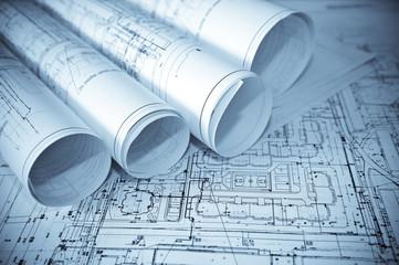 Architecture blue plans.