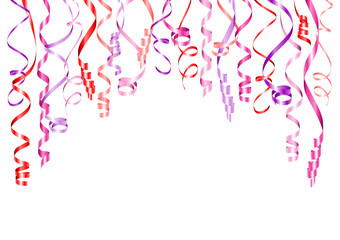 Party Background Streamers Pink Mix A4