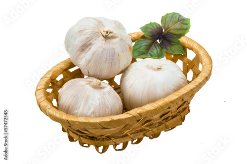 Ripe garlic