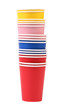 Stack of colorful paper cups