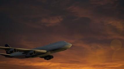 Plane crossing sky