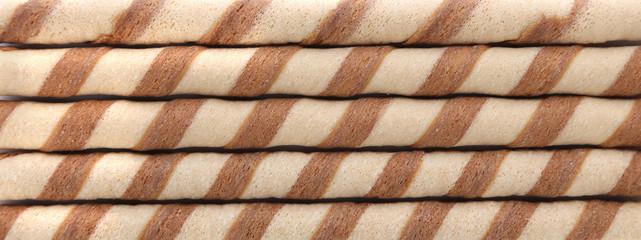 Background of waffle rolls